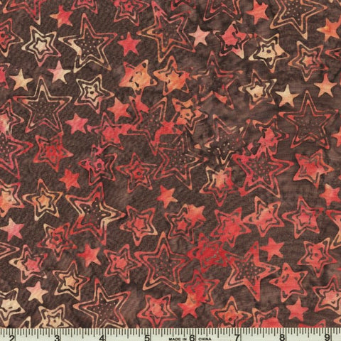 Hoffman Bali Batik 2847 09 Brown Betty Pop Art Stars By The Yard