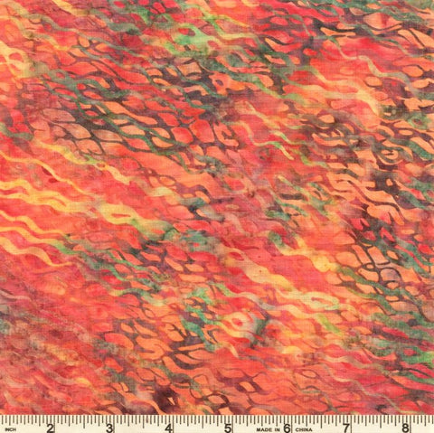 Hoffman Bali Batik 2849 592 Peach Punch Fibers By The Yard