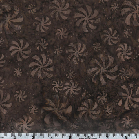 Hoffman Bali Batik 2887 514 Brown Sugar Spirals By The Yard