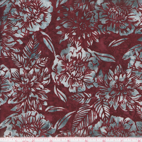 Hoffman Fabrics Bali Batiks 2894 533 NightShade Flowers By The Yard