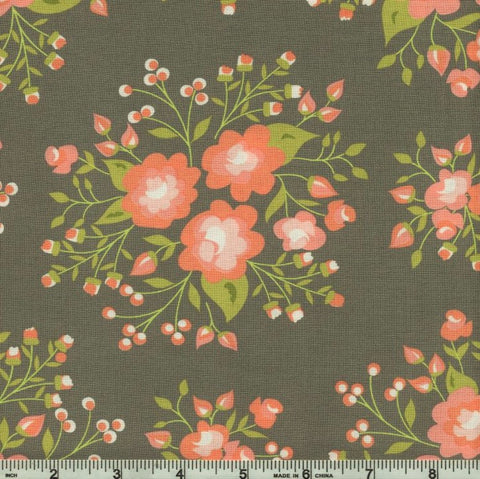 Moda Apricot & Ash 29101 19 Ash Rose Garden By The Yard