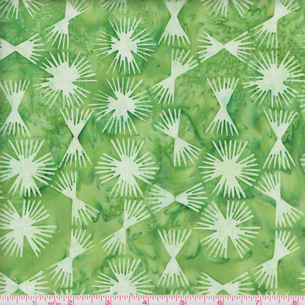 Hoffman Bali Batik 2933 354 Kelly Sparkle Burst  By The Yard