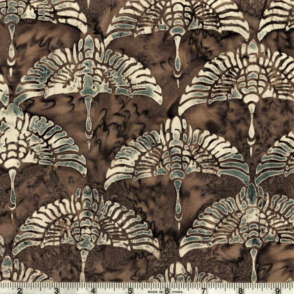 Hoffman Bali Batik 2936 335 Rocky Cranes On Smokey Chesnut By The Yard