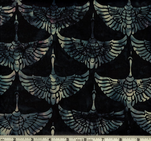 Hoffman Bali Batik 2936 545  Vineyard Violet Cranes By The Yard