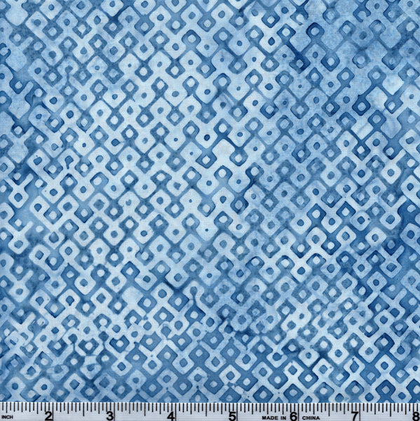 Hoffman Bali Batik 2937 329 Brooke Light Blue Dotted Diamond Grid By The Yard