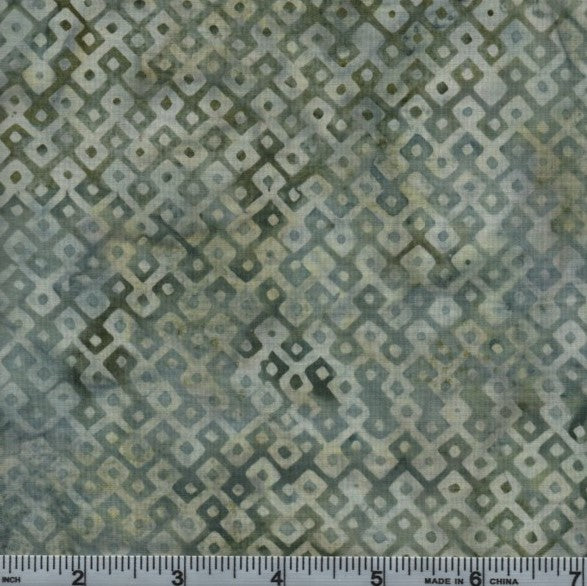 Hoffman Fabrics Bali Batiks 2937 547 Loden Dotted Diamond Grid By The Yard