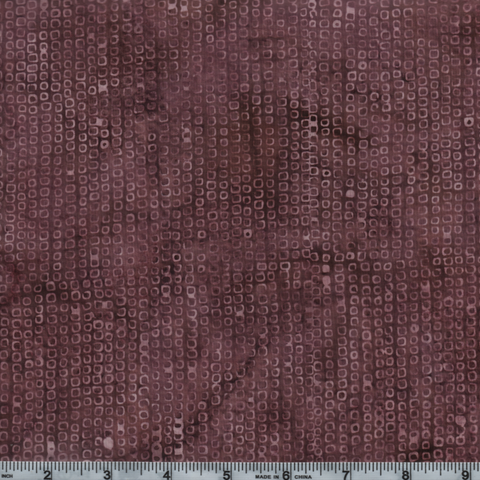 Hoffman Bali Batik 2938 D63 Dusty Rose Dot Grid By The Yard