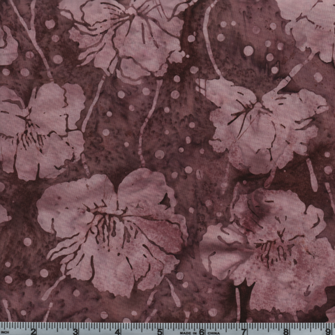 Hoffman Fabrics Bali Batiks 2939 D63 Dusty Rose Flowers By The Yard