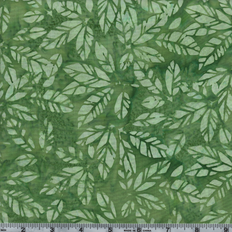 Hoffman Bali Batiks 2944 354 Kelly Light Green Leaves By The Yard