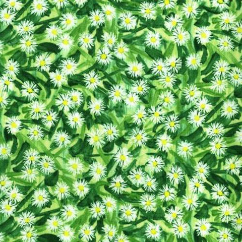RJR Fabrics Daisy Blue 2945 2 Flowering Field Spring By The Yard