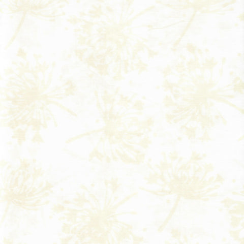 Hoffman Bali Batik 2963 265 Oyster White Dandelions By The Yard