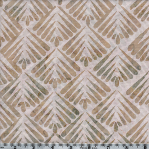 Hoffman Bali Batiks 2966 294  SundPiper Abstract Line Shell Grid By The Yard