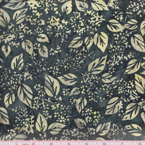 Hoffman Fabrics Bali Batiks 2972 498 Monstera Leaves and Berries By The Yard