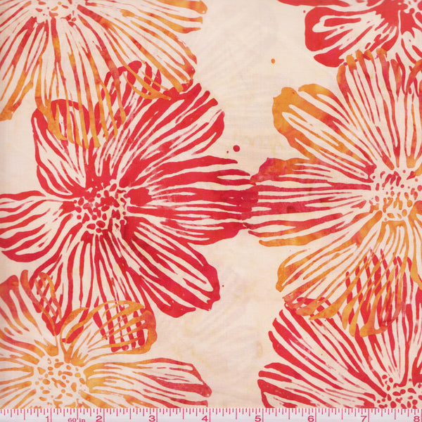 Hoffman Bali Batik 2982 389 Paprika Hibiscus By The Yard
