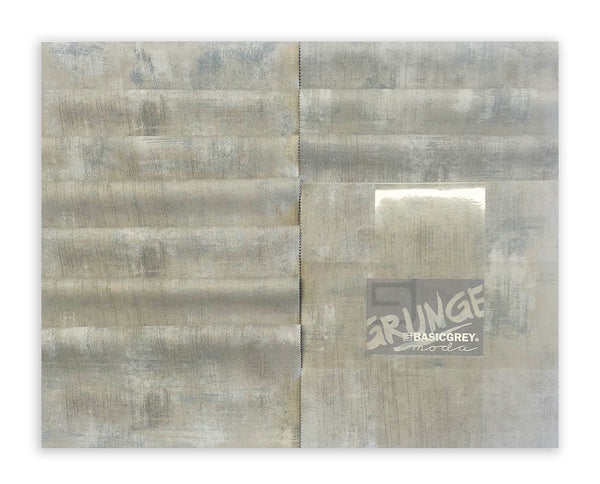 "Moda Grunge 10"" Square Pre-Cuts 20 Piece Junior Layer Cake 30150JLC 278 Gris"