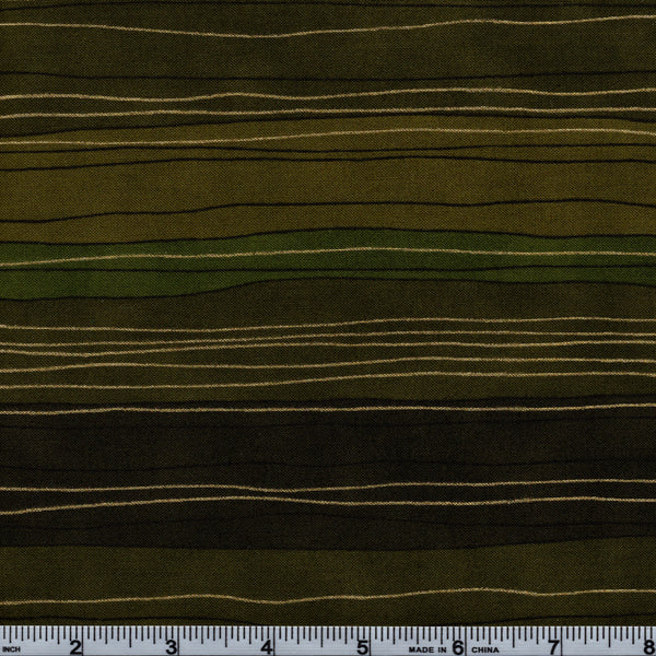 RJR Fabrics Metallic Shiny Objects 3023 2 Striped Greens