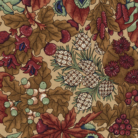 RJR Fabrics River Song 3049 2 Large Foliage Gold By The Yard