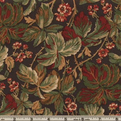 RJR Fabrics River Song 3051 2 Leaf Cluster Grey By The Yard