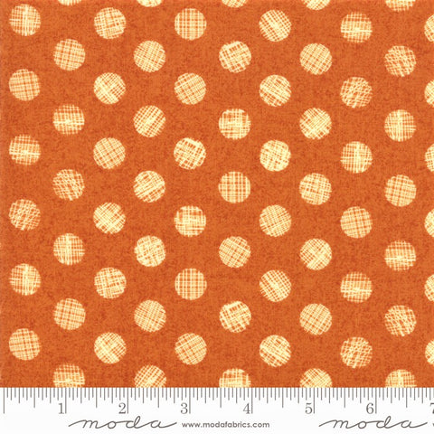 Moda Hallo Harvest 30605 16 Ginger Disturbed Dots By The Yard