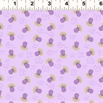 Clothworks Thistle Patch 3066 26 Light Purple Flower Heads By The Yard