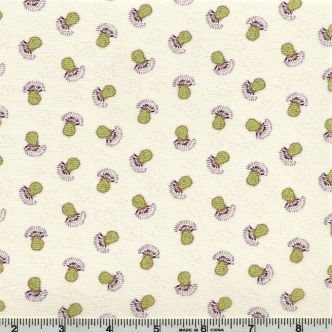 Clothworks Thistle Patch 3066 11 Light Khaki Flower Heads By The Yard