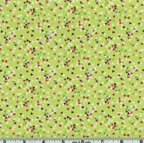 Clothworks Thistle Patch 3069 24 Olive Triangles By The Yard
