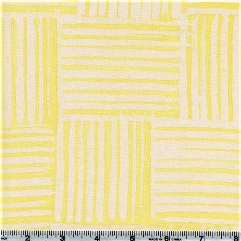 RJR Blossom Batiks 3140 5 Light Yellow Stripes By The Yard