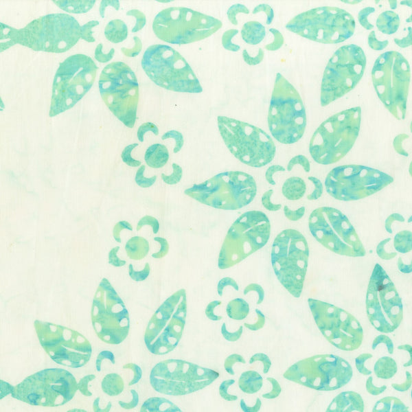 Anthology Batik Bahama Breeze 320Q 5 Mint Flow & Floral By The Yard