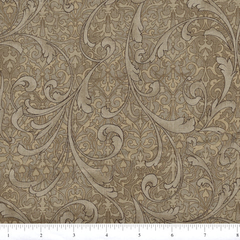 RJR Fabrics Jinny Beyer Miyako 3210 5 Tan Antique Floral By The Yard