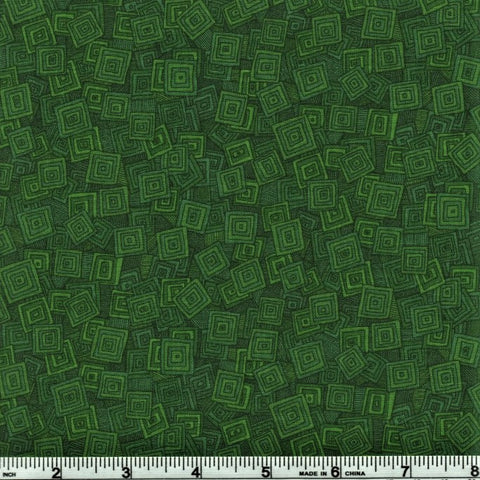 RJR Fabrics Hopscotch 3215 3 Moss Falling Abstract Squares By The Yard
