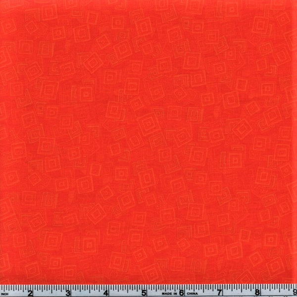 RJR Fabrics Hopscotch 3215 4 Orange Falling Abstract Squares By The Yard