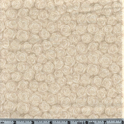 RJR Fabrics Hopscotch 3216 8 Ivory Rose Grid By The Yard