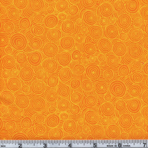 RJR Fabrics Hopscotch 3217 3 Dark Yellow Swirl By The Yard