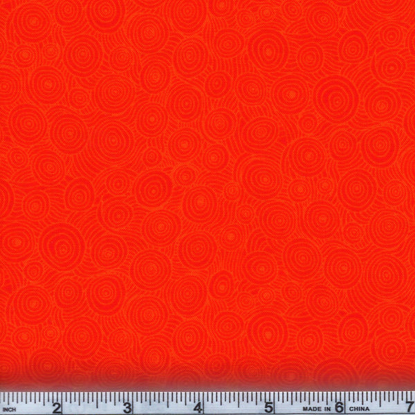 RJR Fabrics Hopscotch 3217 4 Vibrant Orange Swirl By The Yard