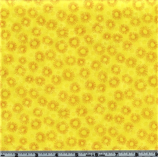 RJR Fabrics Hopscotch 3219 4 Aureolin Flower Burst By The Yard