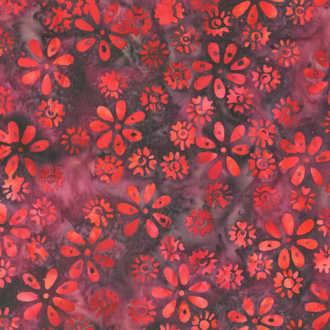 Anthology Bali Batiks 321Q 3 Raspberry Charm Floral By The Yard