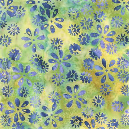 Anthology Bali Batiks 321Q 6 Green Charm Floral By The Yard