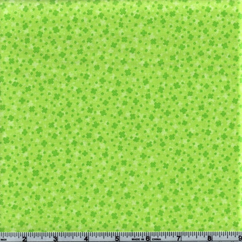 RJR Fabrics Hopscotch 3222 1 Harlequin Green Mini Plus Sign By The Yard