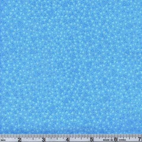 RJR Fabrics Hopscotch 3223 1  Tiny Blue Triangles By The Yard