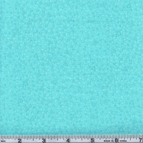 RJR Fabrics Hopscotch 3223 2 Light Teal Triangles By The Yard
