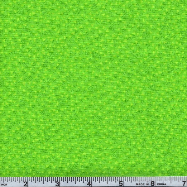 RJR Fabrics Hopscotch 3223 3 Lime Green Triangles The Yard