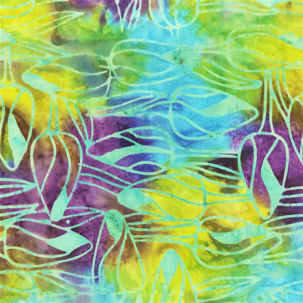 Anthology Bali Batiks 332Q 10 Haze Tulip Buds By The Yard