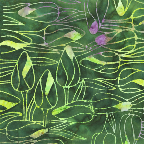 Anthology Bali Batiks 332Q 9 Hunter Tulip Buds By The Yard