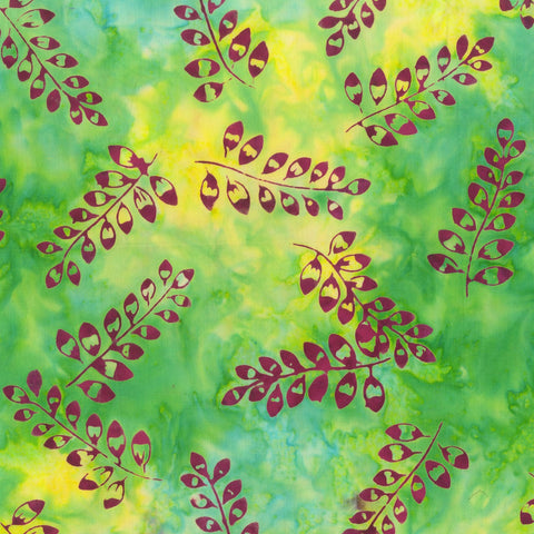 Anthology Bali Batiks 333Q 6 Field Leaf Stalks By The Yard