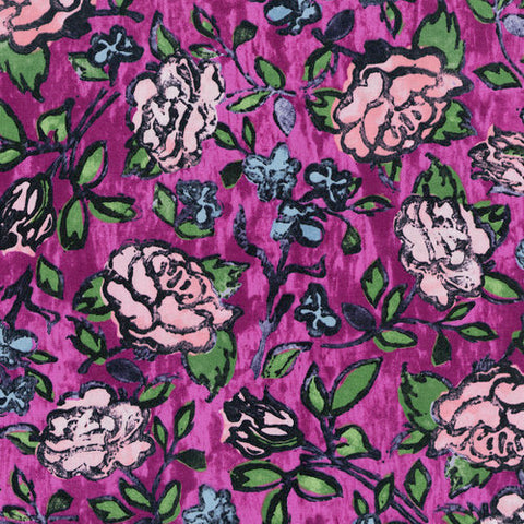 RJR Fabrics Florabunda! 3342 1 Blowsy Rose Bengal Rose By The Yard
