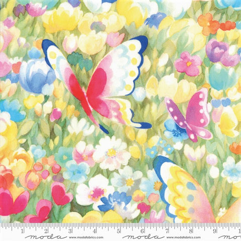 Moda Flights Of Fancy 33461 11  Multi Butterfly Fields By The Yard