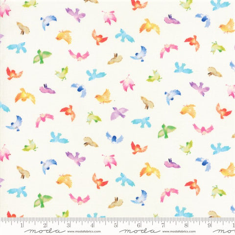 Moda Flights Of Fancy 33463 11 Cloud Little Birdies By The Yard