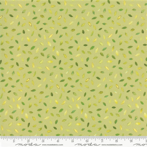 Moda Flights Of Fancy  33464 15 Leaf Green Floating Leaves By The Yard