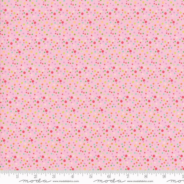 Moda Flights Of Fancy 33465 14 Petal Pink Fizzy Dots By The Yard