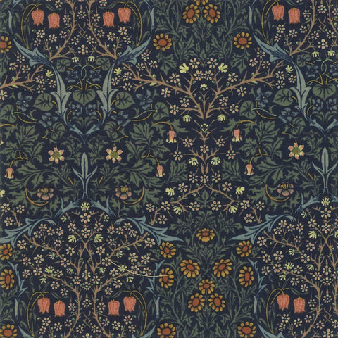 Moda Best Of Morris Fall 33491 11 Indigo Blackthorn By The Yard